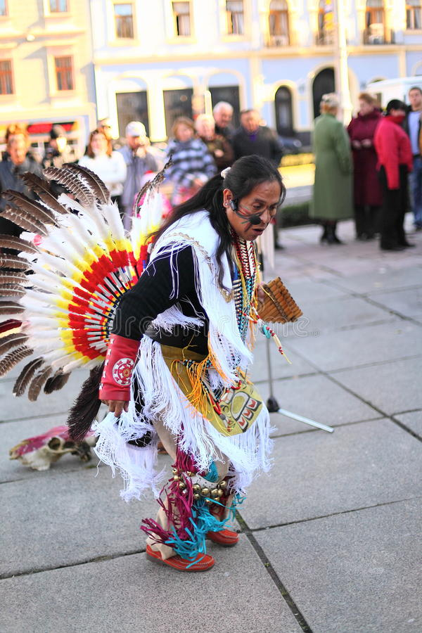 CHERNOVTSY, de OEKRAÏNE, 22 Oktober, 2010, Peruviaans royalty-vrije stock foto