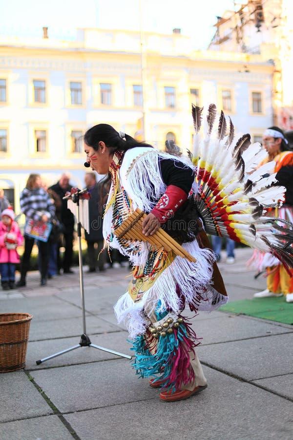 CHERNOVTSY, DE OEKRAÏNE: 22 oktober, 2010, Peruviaans royalty-vrije stock fotografie