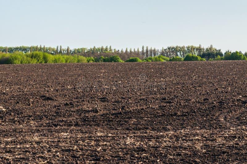 Chernozem field in Ukraine stock images