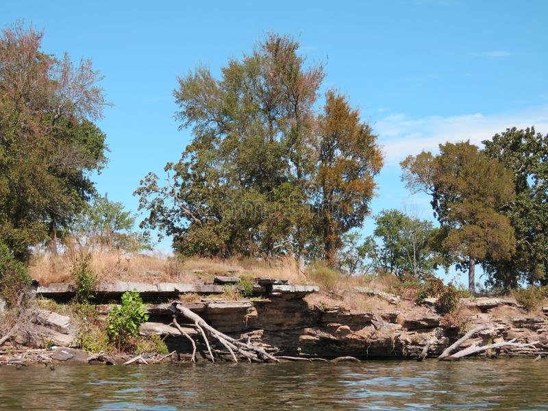 Cherokee nationaler Sallisaw-Nebenfluss-Nationalpark, Sallisaw, O.K. stockfotografie