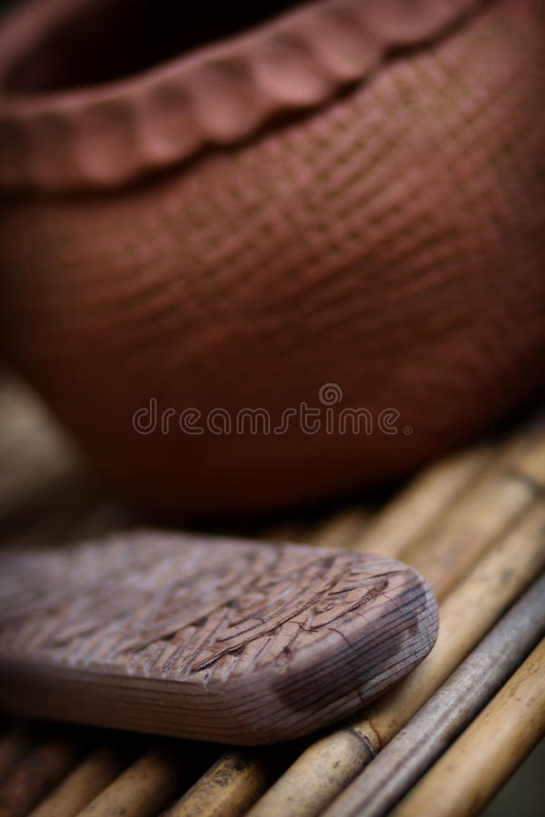 Cherokee pottery tool royalty free stock images