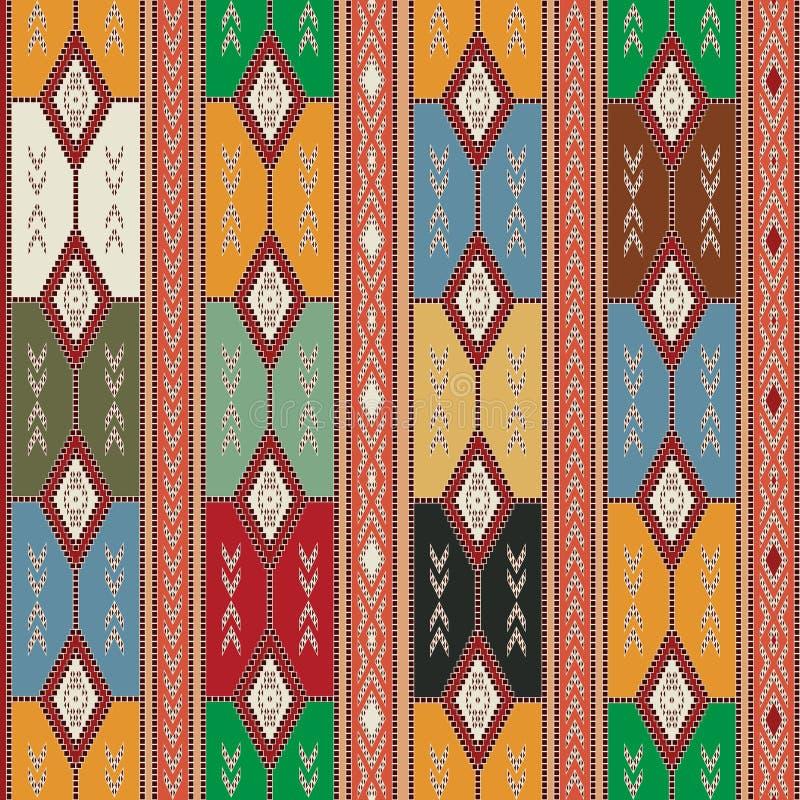 Cherokee semless textur royaltyfri illustrationer