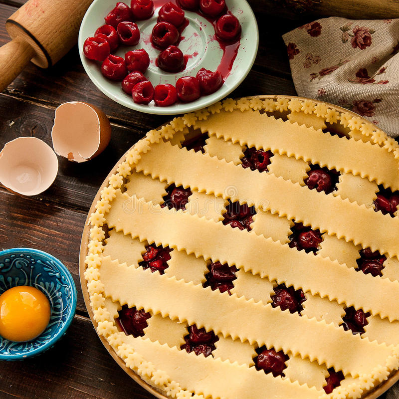Cherrie-Torte stockfoto