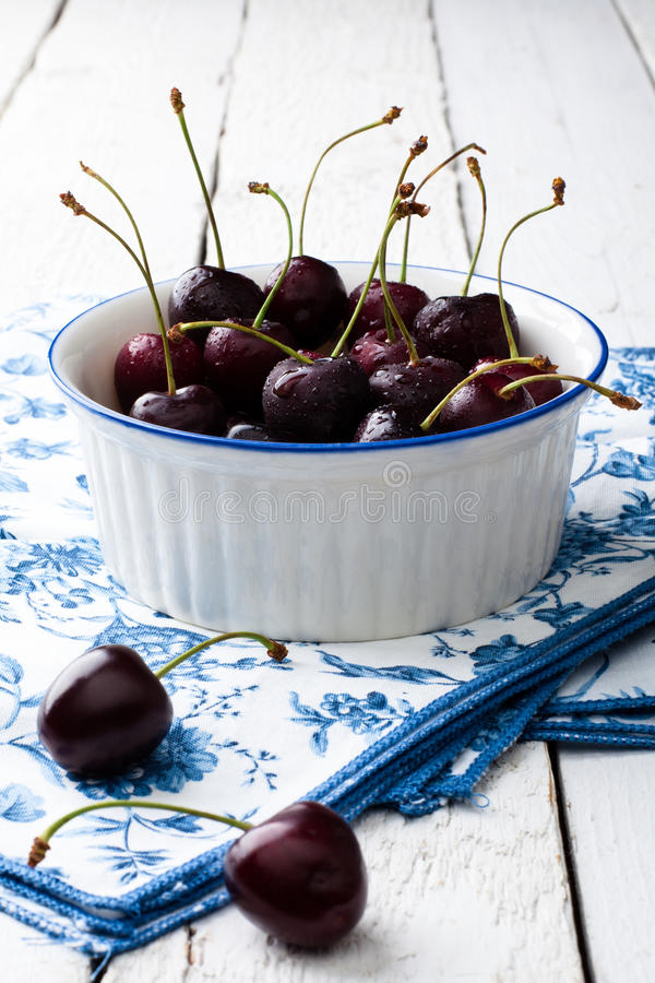 Download Cherries stock image. Image of wood, vertical, food, white - 25448565