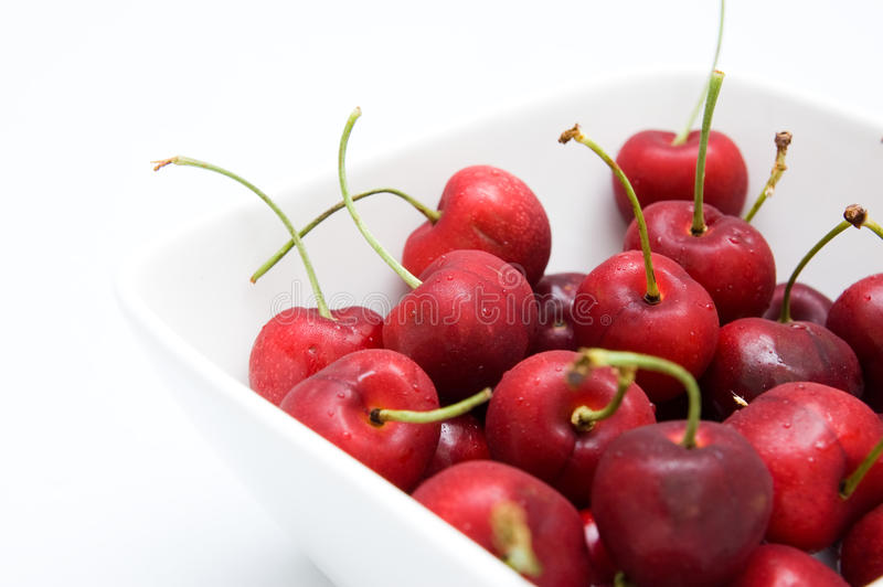 Closed Up Bowl With Cherries Stock Photo Image Of