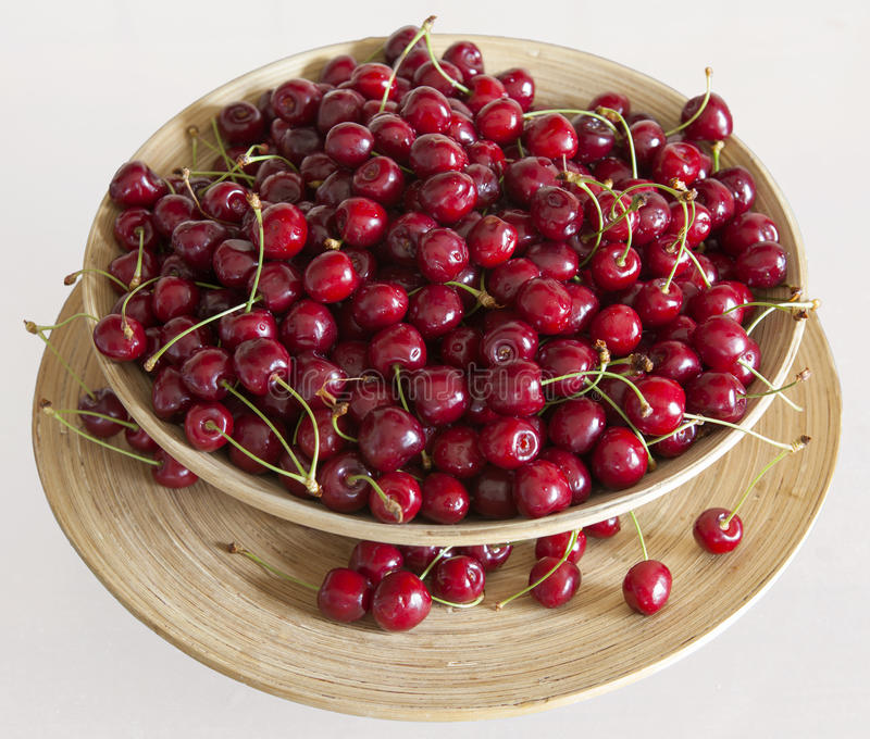 Cherries royalty free stock photos