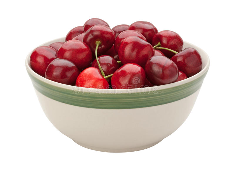 Cherries in a Bowl Isolated