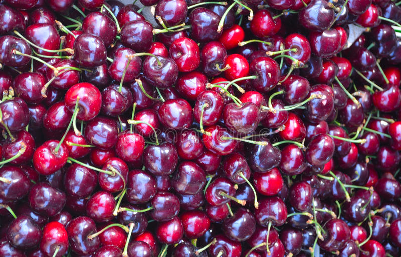 Cherries Close up background royalty free stock photography