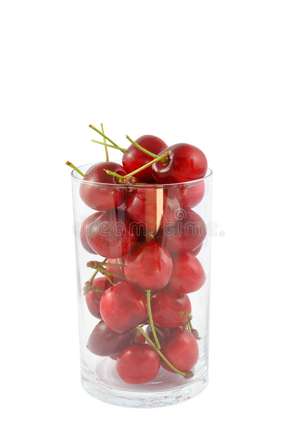 Cherries In A Glass Stock Images