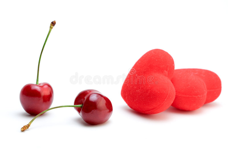 Download Cherries And Hearts Stock Photography - Image: 864412
