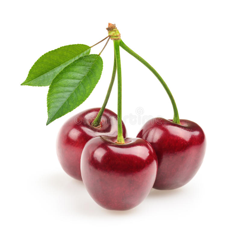 Free Cherries Isolated Stock Photos - 46216913