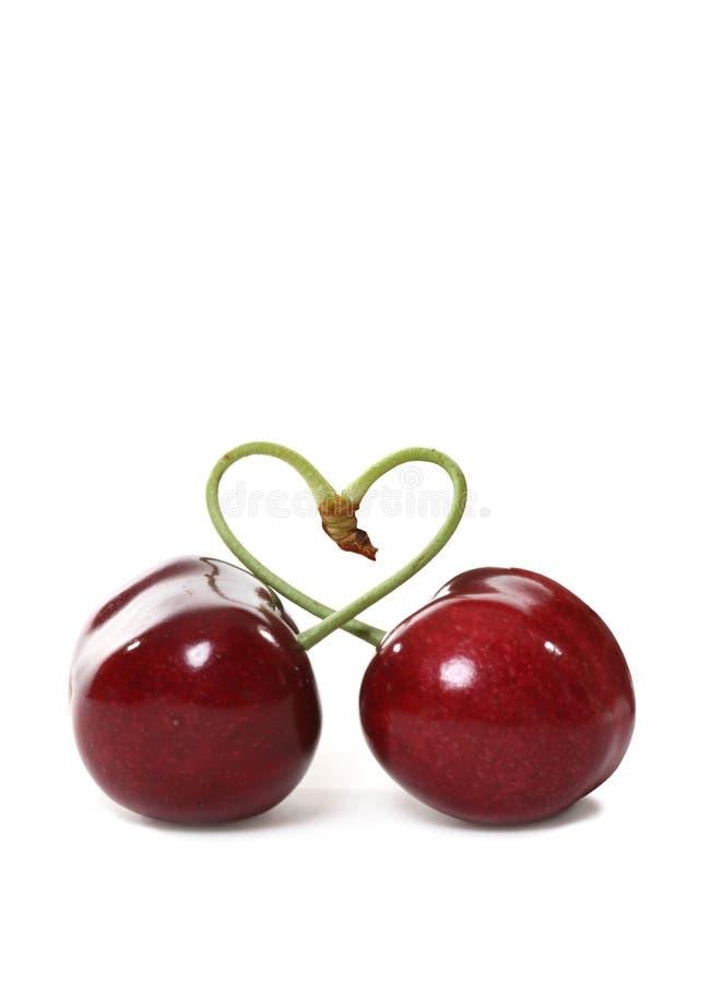 Cherries in Love royalty free stock photo