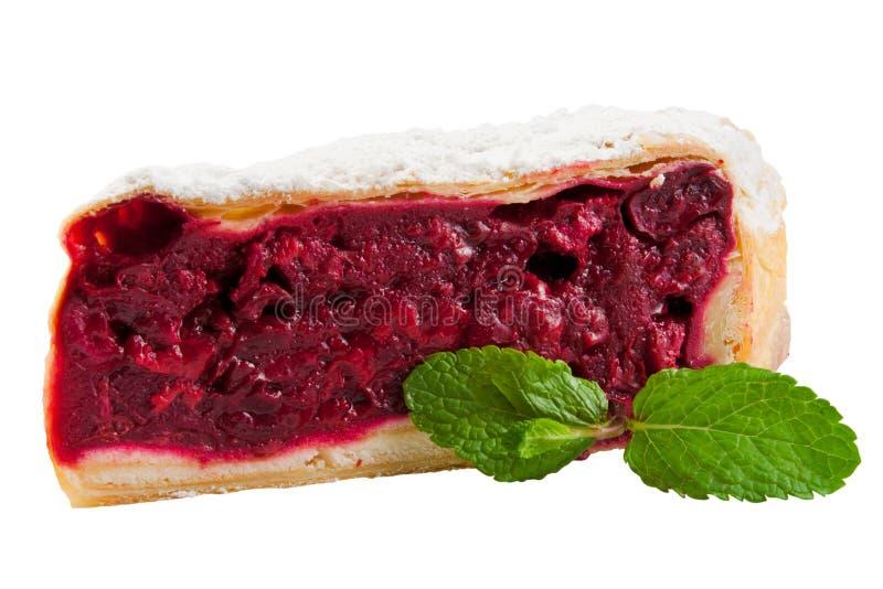 Cherries  strudel, slice