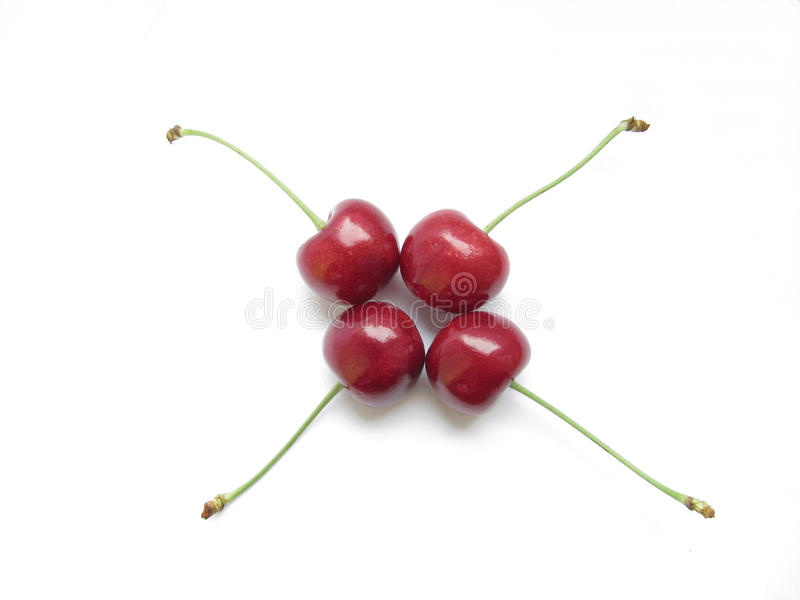 Cherries In Symmetry Stock Photography