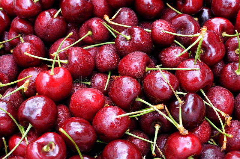 Download Cherry stock photo. Image of garden, heap, group, background - 26089312
