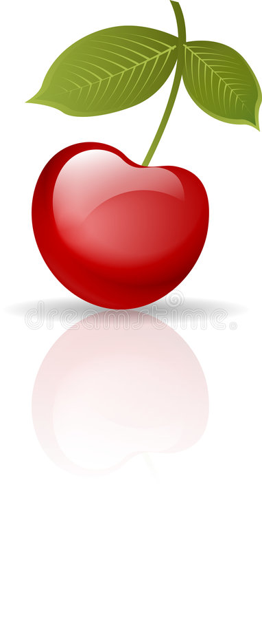 cherry royalty ilustracja