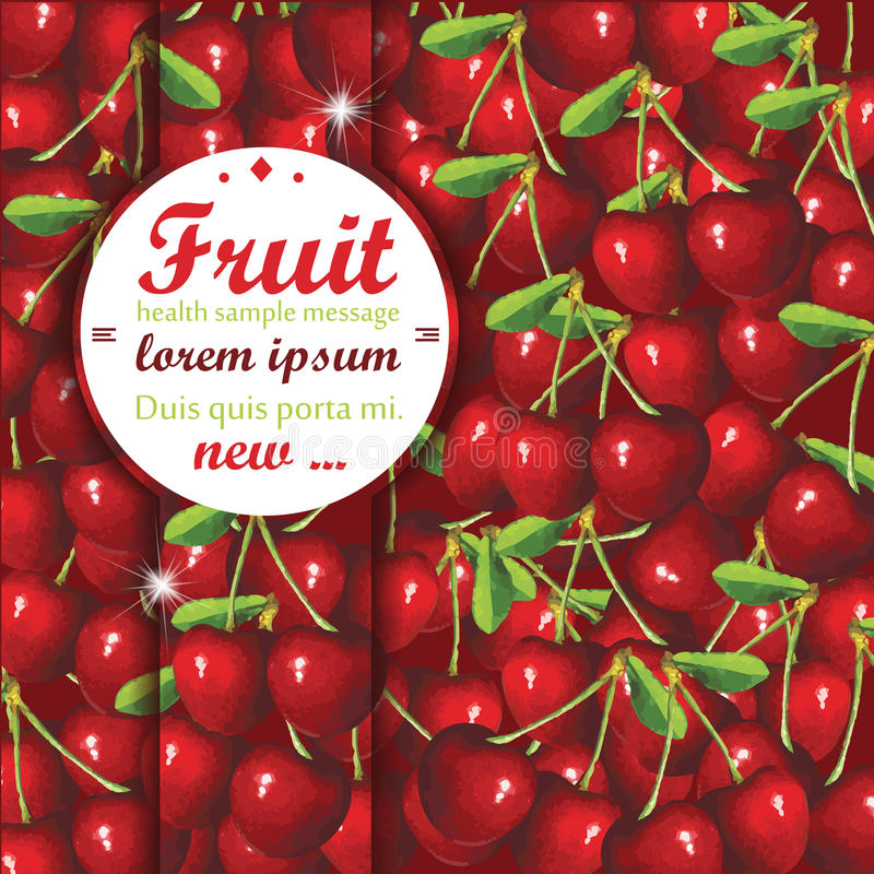 Download Cherry Background Stock Vector - Image: 40724393