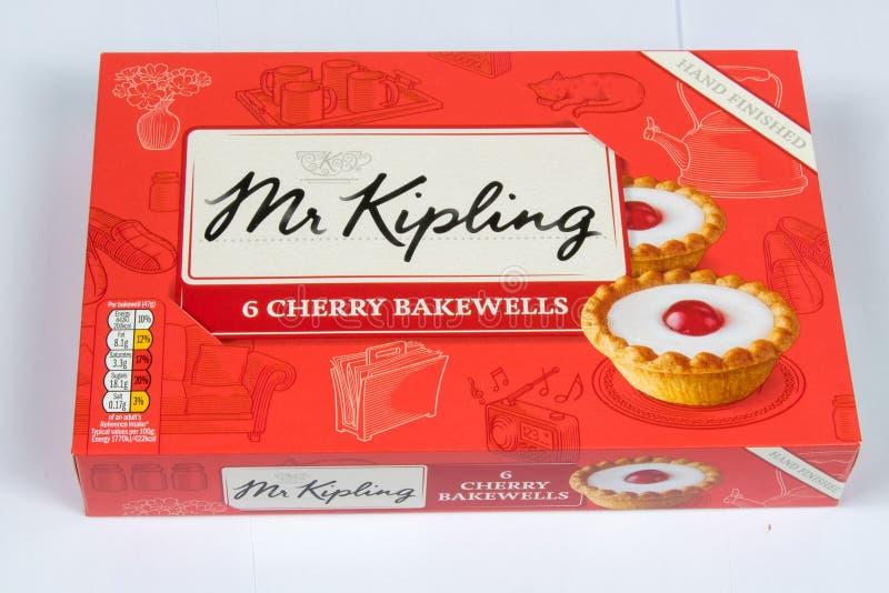 Cherry Bakewell Tarts foto de archivo
