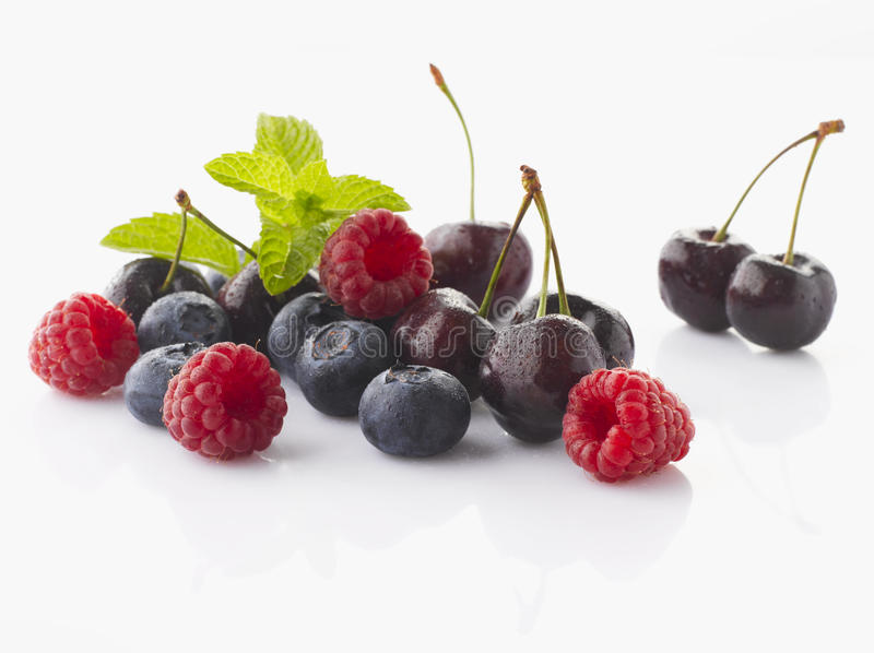 Cherry and Berry Fruits stock photo