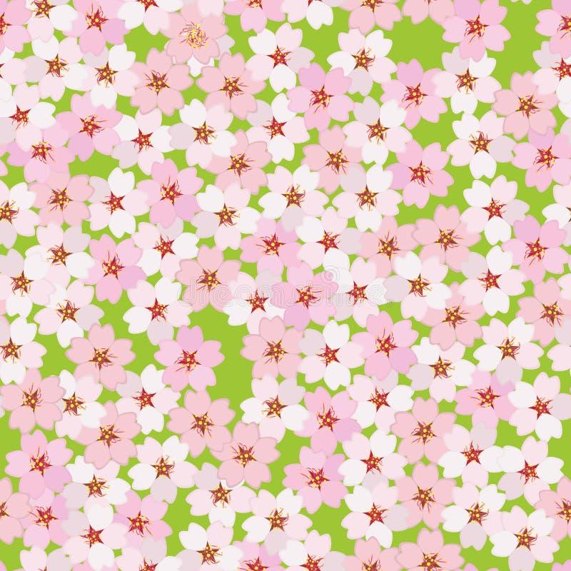 Cherry Blossom Abstrakte asiatische grungy Hintergründe für Ihre Auslegung Nahtloses Muster lizenzfreie abbildung