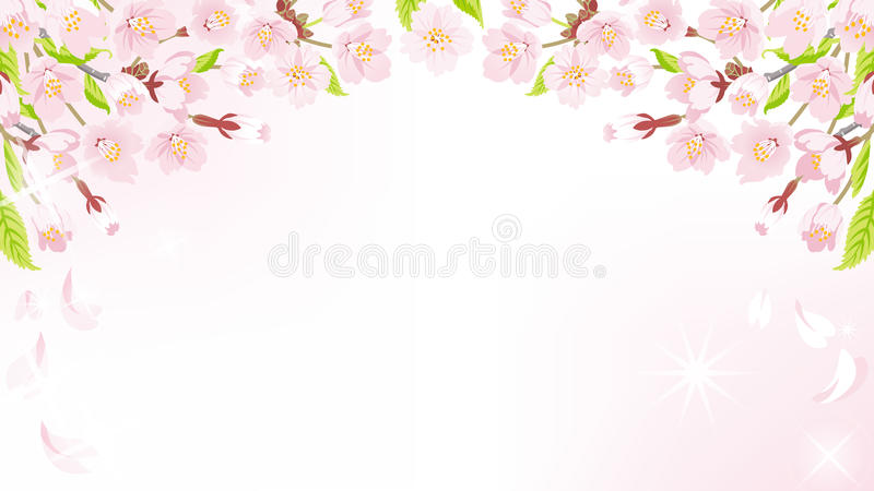 Cherry Blossom bakgrund-ovanför EPS10 stock illustrationer