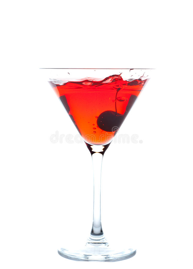 Cherry Blossom Cocktail royalty free stock photo