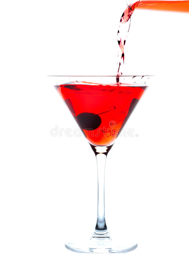 Cherry Blossom Cocktail stock image