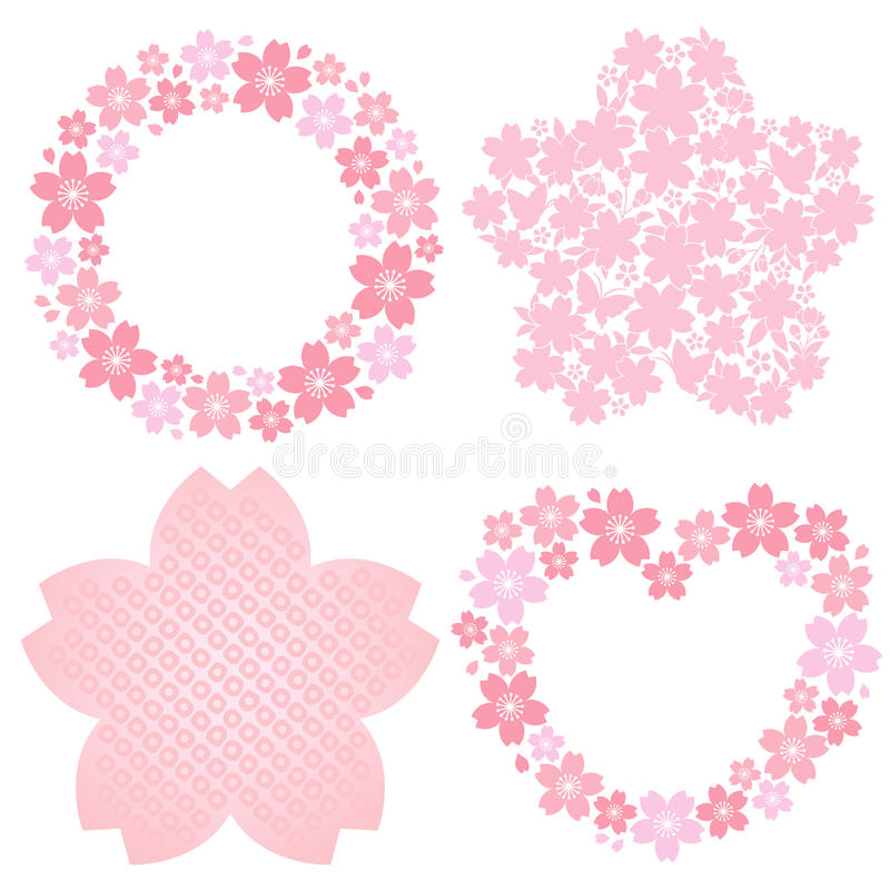 Download Cherry blossom decoration stock vector. Image of japan - 23698795