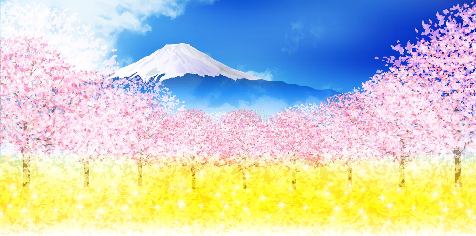 Cherry blossom illustration royalty free illustration