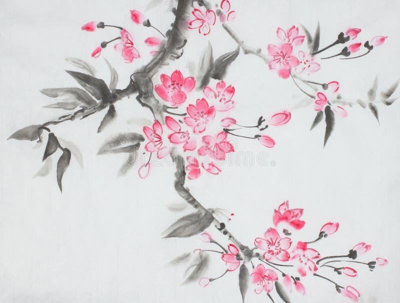 Cherry Blossom-Niederlassung lizenzfreie abbildung