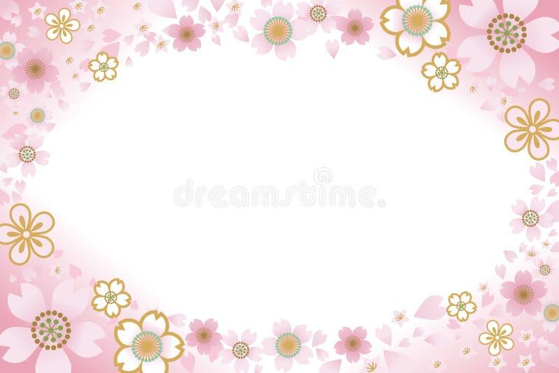 Cherry Blossom ram vektor illustrationer