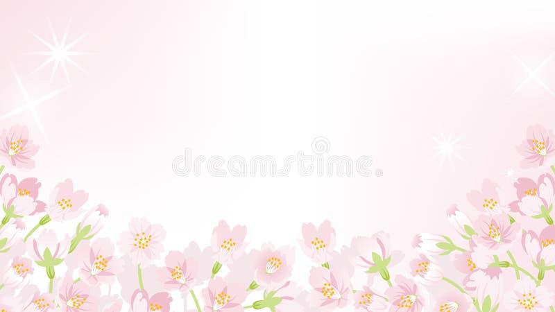 Cherry Blossom ram - nedanför EPS10 vektor illustrationer