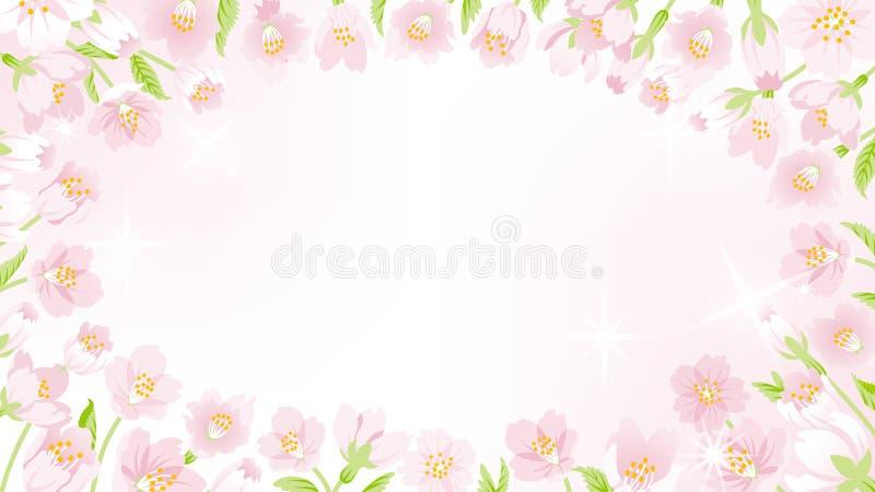 Cherry Blossom ram - rund EPS10 royaltyfri illustrationer