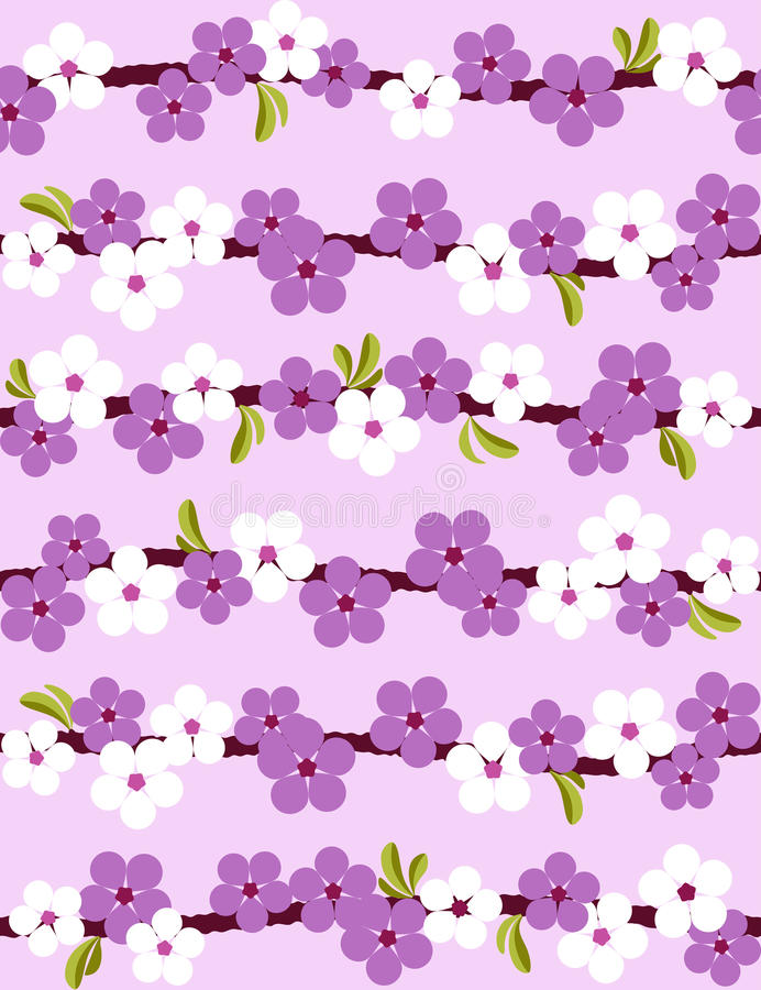 cherry blossom seamless background stock vector illustration of rh dreamstime com Mulan Cherry Blossom Clip Art Red Cherry Blossom Clip Art