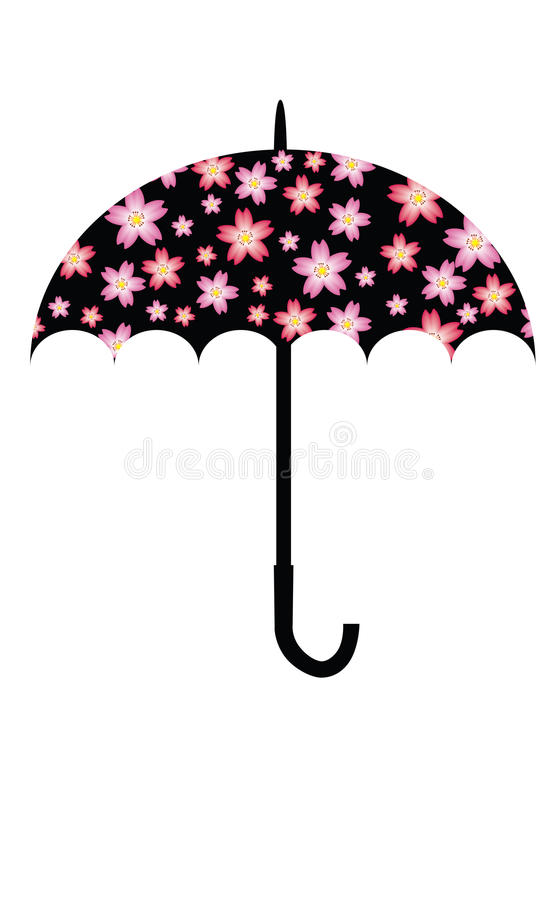 Cherry Blossom Umbrella. Illustration of Cherry Blossom Umbrella royalty free illustration