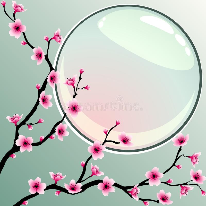 Download Cherry blossoms stock vector. Image of chinese, asian - 13167695