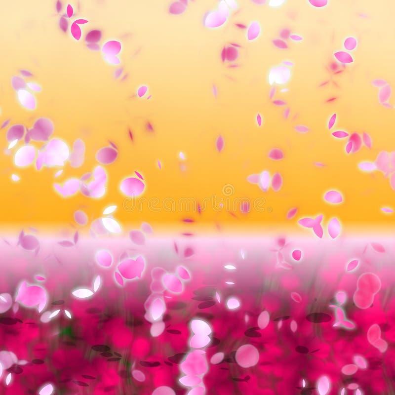 Download Cherry blossoms stock illustration. Image of sunrise, orange - 6790562