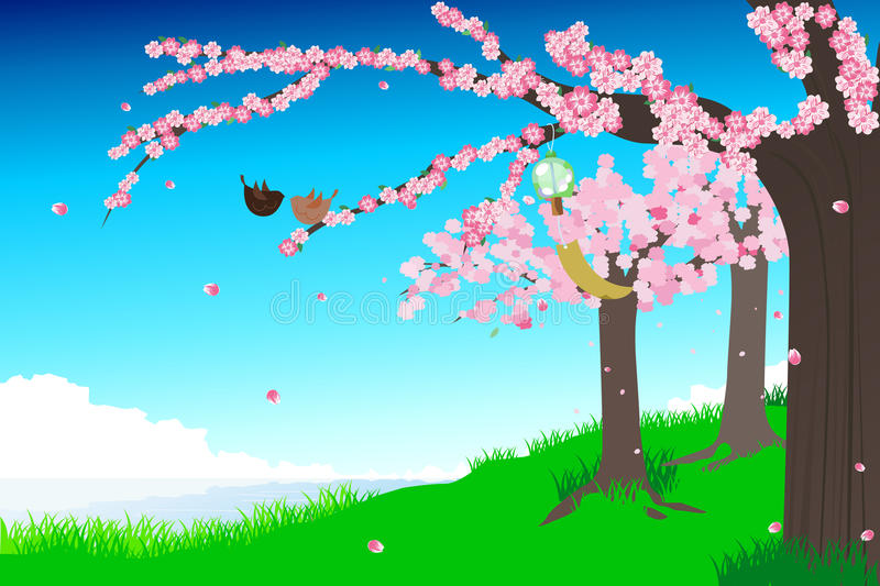 Download Cherry Blossoms Illustration Stock Images - Image: 17096944