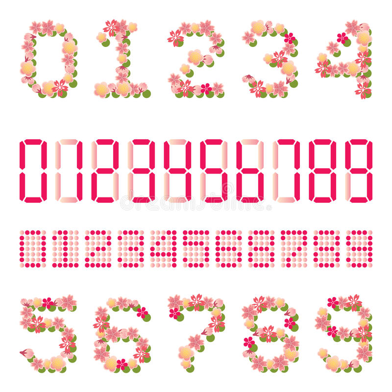 Download Cherry blossoms number stock vector. Illustration of number - 23608362