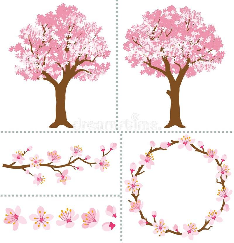 Cherry Blossoms para elementos do projeto ilustração stock