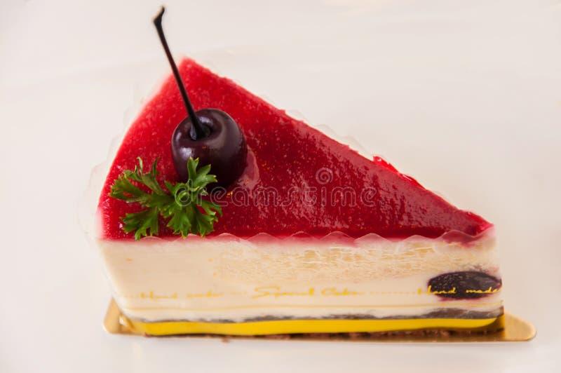 Cherry Cake à faible teneur en matière grasse photographie stock libre de droits
