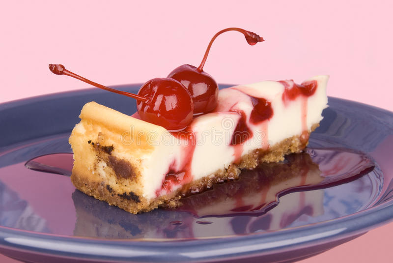 Cherry cheesecake stock images