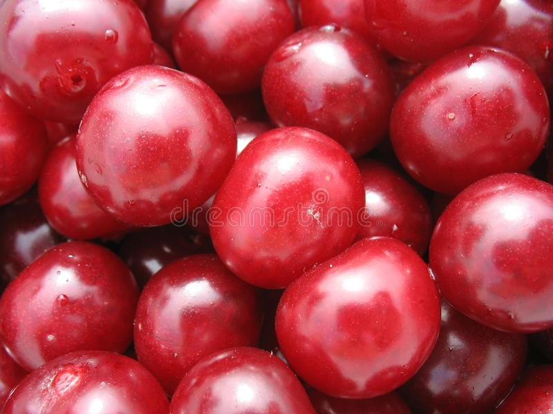 Cherry close up - berry background royalty free stock images