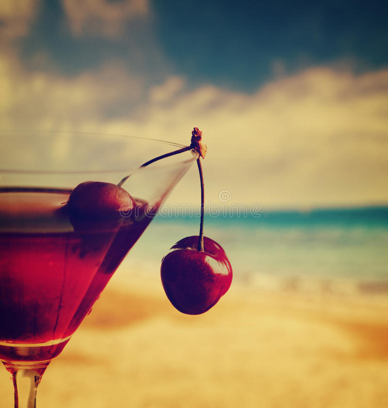 Cherry Cocktail stock fotografie