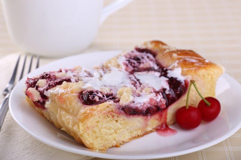 Cherry Coffee Cake fotografia stock