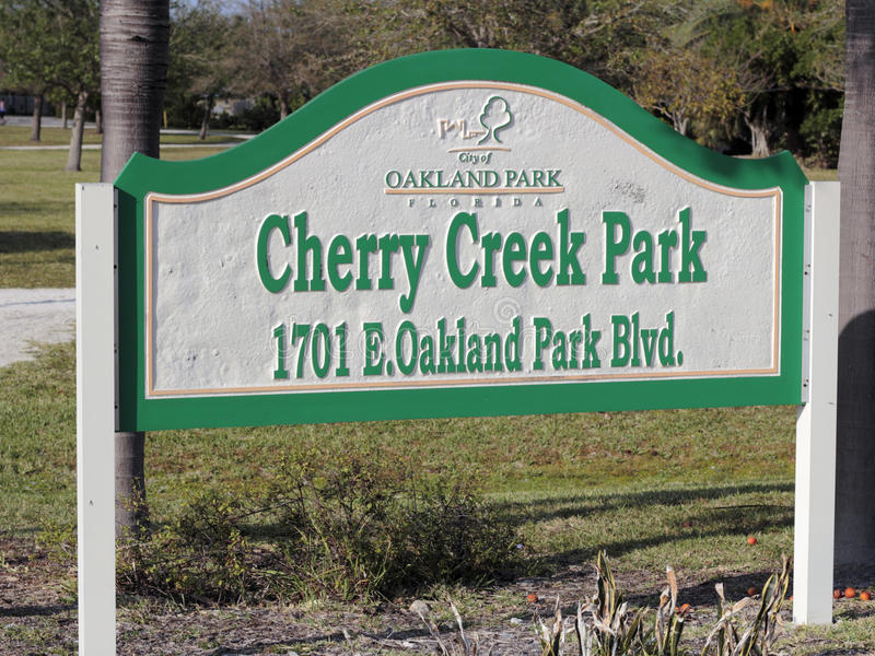Download Cherry Creek Park Sign Outside Editorial Photo - Image: 93883286