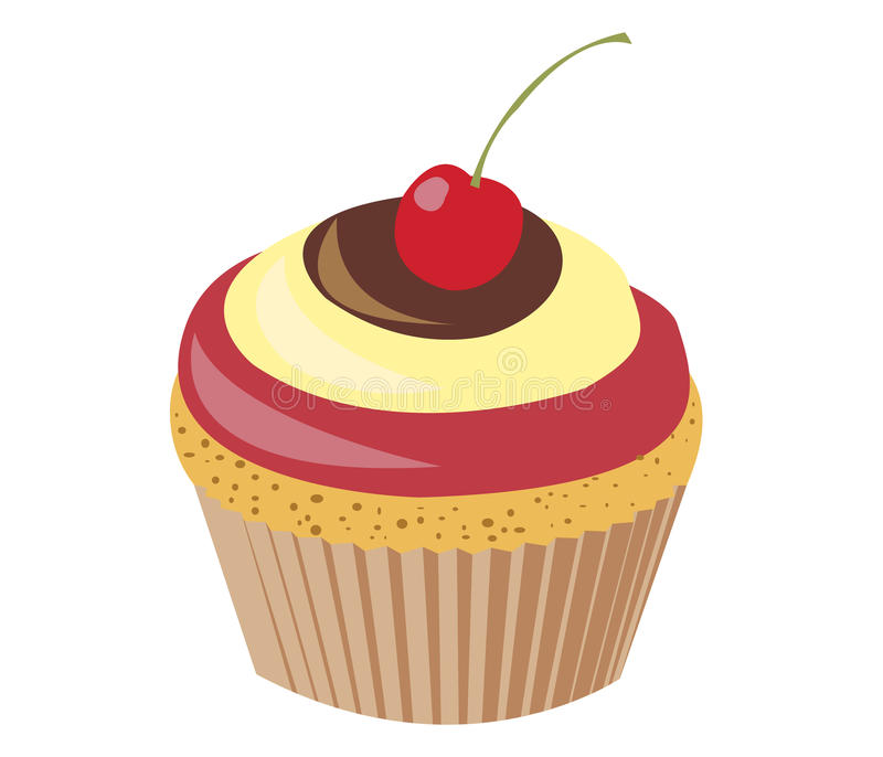 Cherry Cupcake royalty free stock image