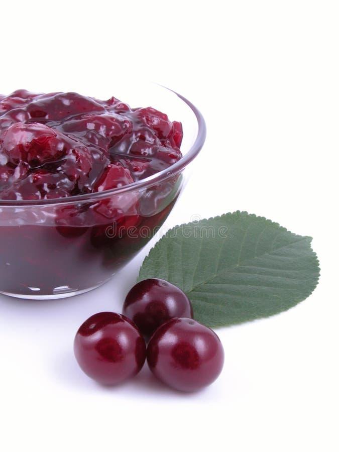 cherry dżem obraz stock