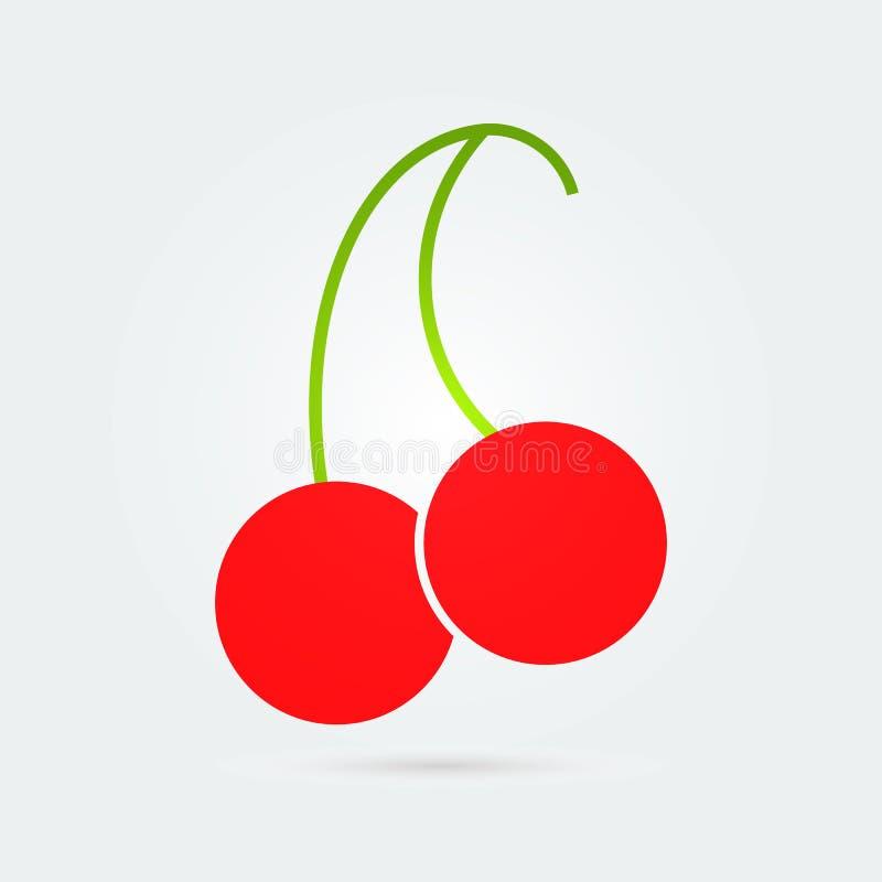 Cherry Flat Icon coloreado E Dise?o del vector fotografía de archivo libre de regalías