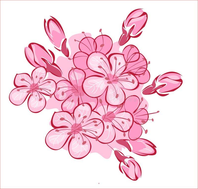 cherry flowerses ilustracji